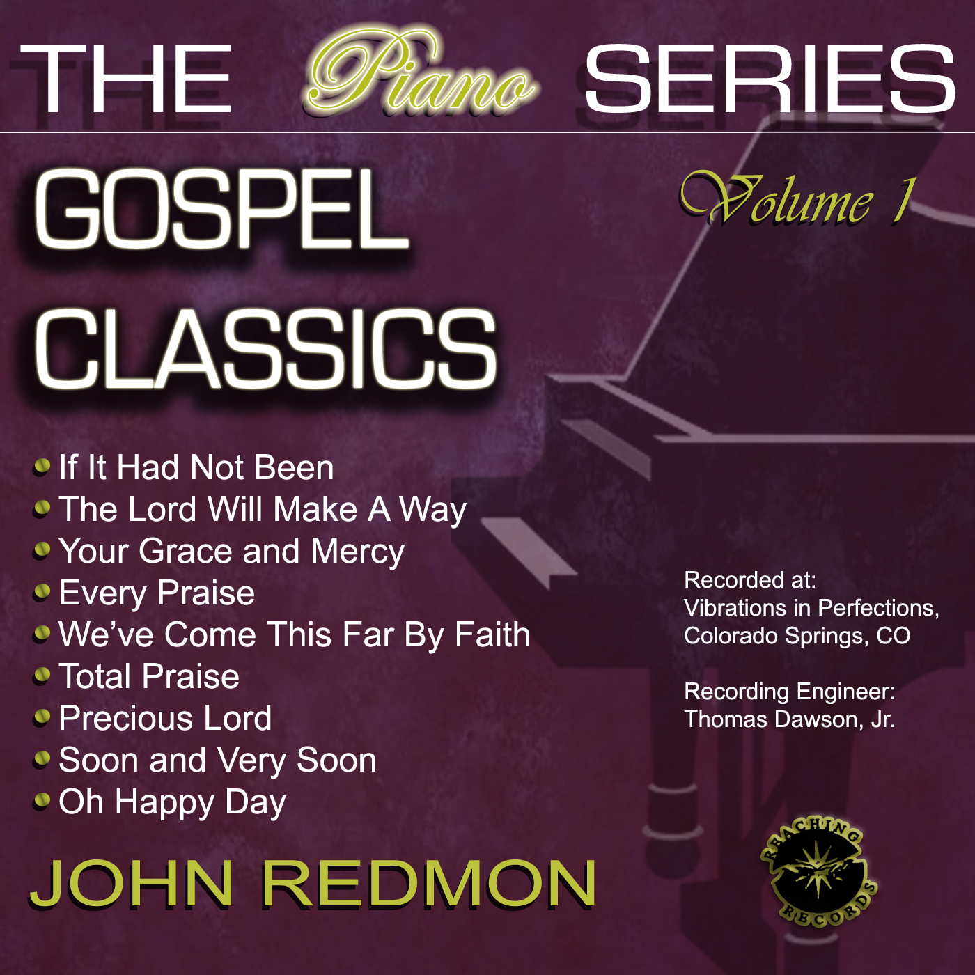 John Redmon [The Piano Series] : Gospel Classics, Vol. 1 (CD)