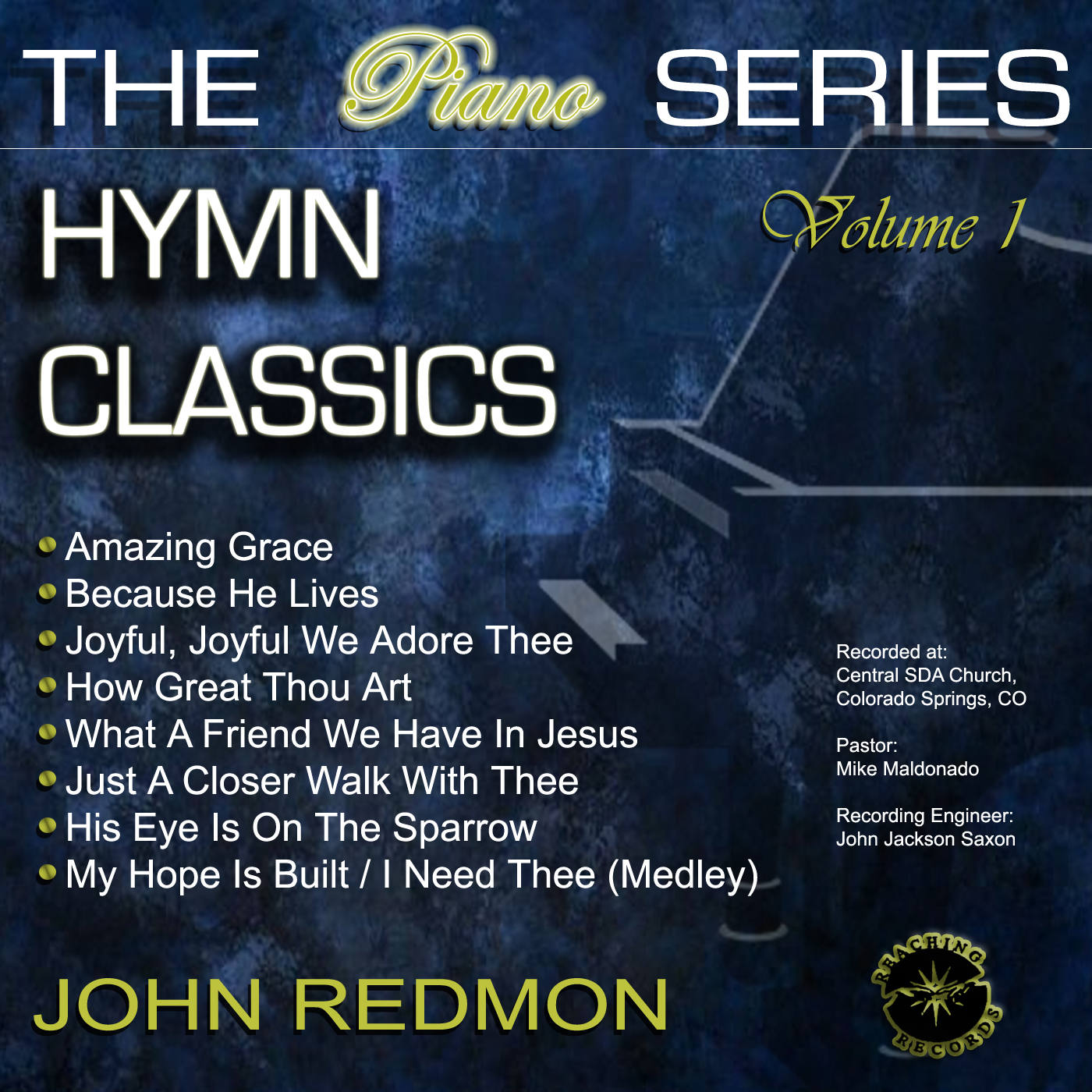 John Redmon [The Piano Series] : Hymn Classics, Vol. 1 (CD)