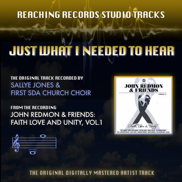 Instrumental Just What I Needed to Hear Sallye Jones