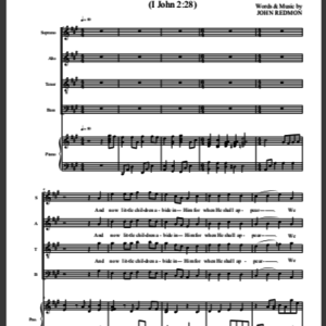 Abide In Him Sheet Music