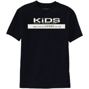 Kids Love Jesus Too T-Shirt Youth Large (YL)